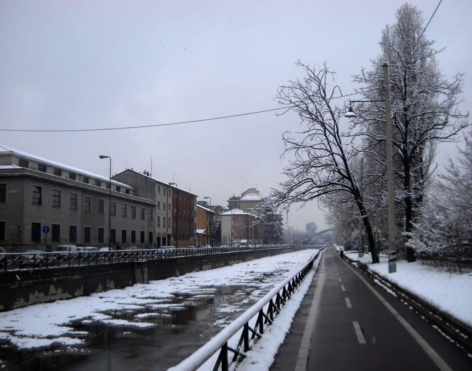 ciclabili di Milano : il Naviglio